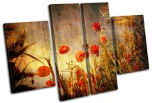 Poppies Flowers Floral - 13-0754(00B)-MP17-LO
